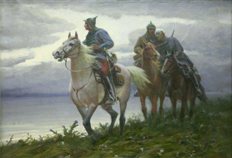 Картины художников о пограничниках из собрания Центрального Пограничного Музея ФСБ России