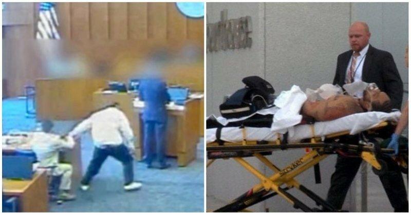 Преступник из уличной банды попытался заколоть ручкой свидетеля в зале суда