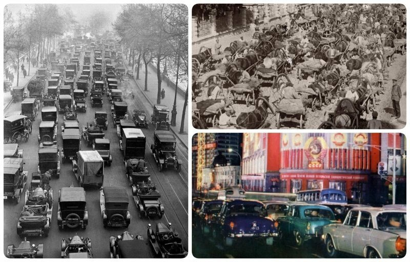 Столетние традиции: пробки от Москвы до Лос-Анджелеса