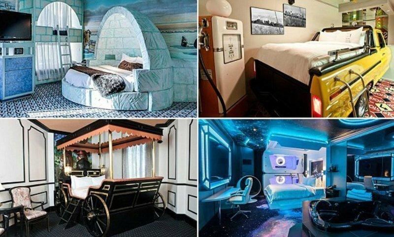 Канадский отель Fantasyland предлагает гостям уникальные тематические номера