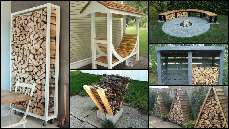 Креативные идеи для хранения дров