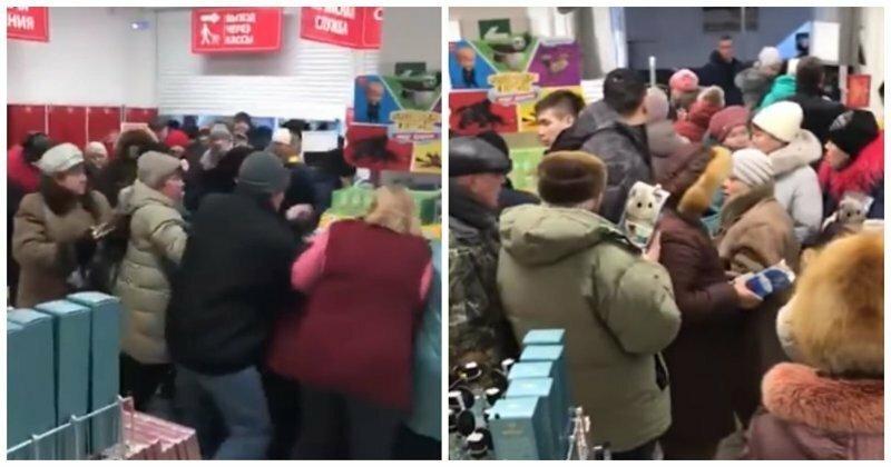 Краснодарские покупатели «Магнита» устроили давку из-за игрушек по акции