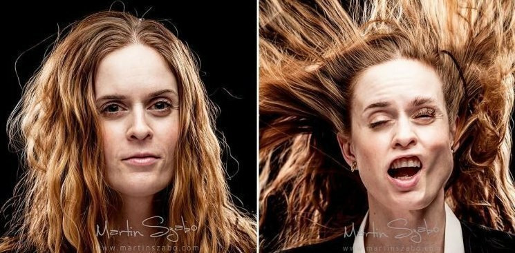 Люди до и после того, как фотограф напал на них с воздуходувкой
