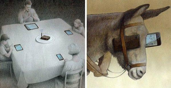 Реалистические иллюстрации Поля Кучиньски показывают, что не так с современным обществом