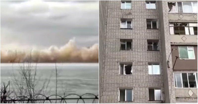 В Казахстане из-за подрыва льда на реке Иртыш десятки квартир остались без окон