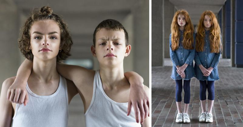 Портреты идентичных близнецов, раскрывающие уникальность каждого
