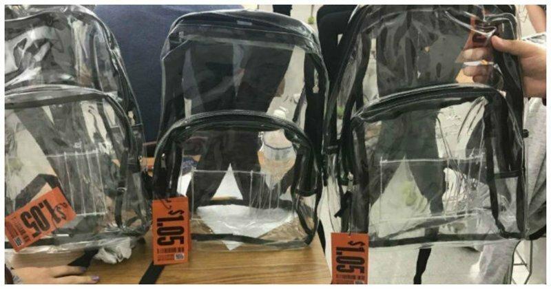 Школьников обязали носить прозрачные рюкзаки: что из этого вышло