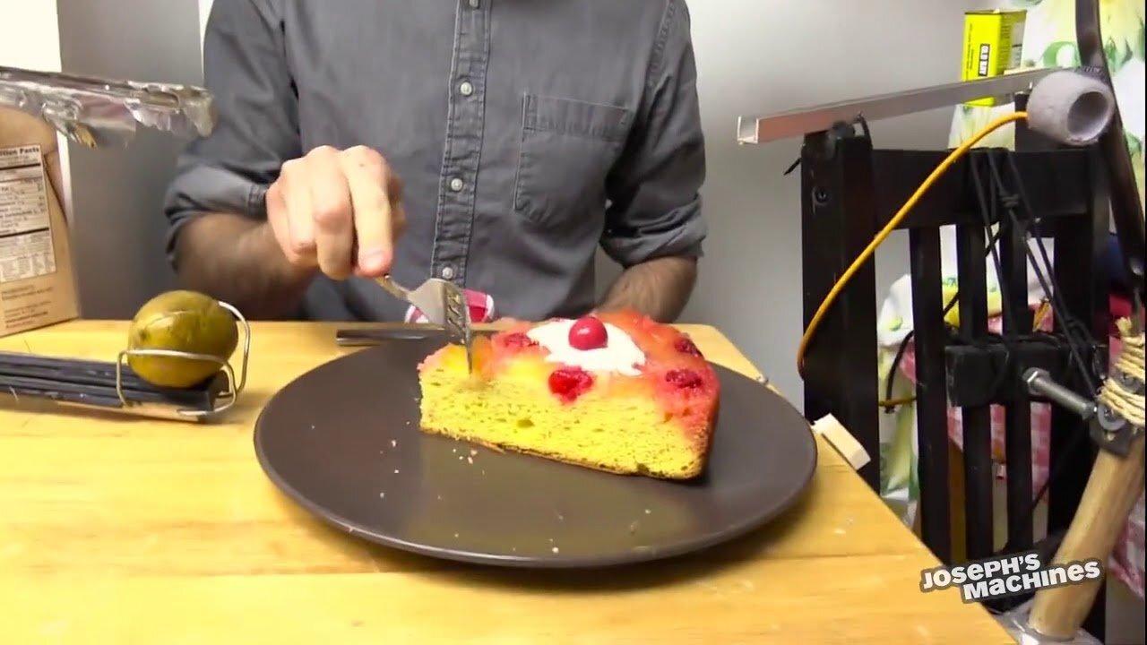 замысловатая доставка пирога