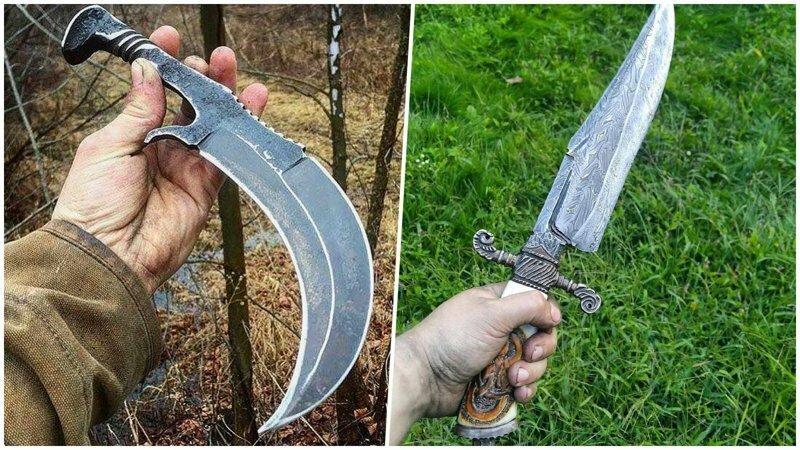 25 красивых и необычных ножей, которыми люди хвастаются в интернете