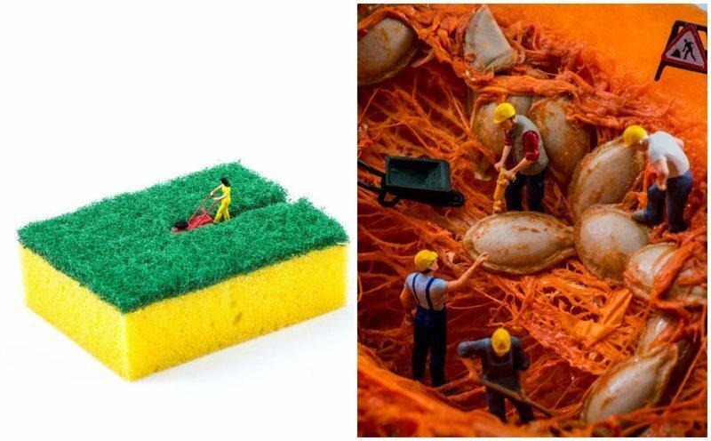 Новые миниатюрные миры из подручных предметов от Питера Ксаквари
