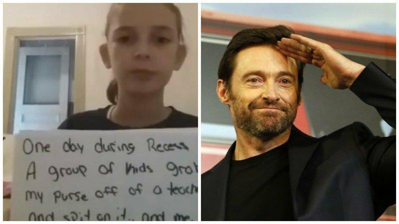 Хью Джекман поддержал девочку, которую травят в школе