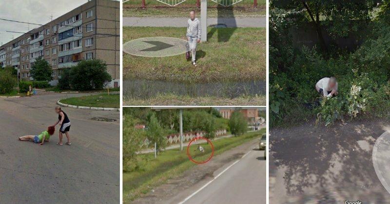 Кадры на Яндекс и Google-картах, которых не должно было быть