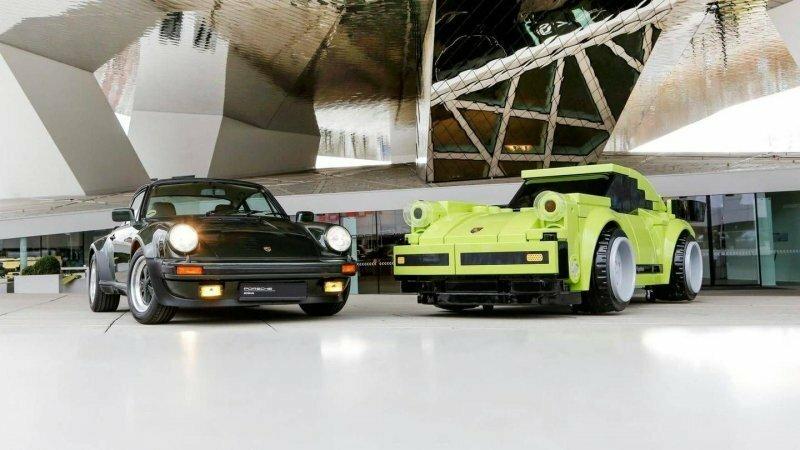 Полноразмерный Porsche 911 Turbo из огромных кубиков Lego
