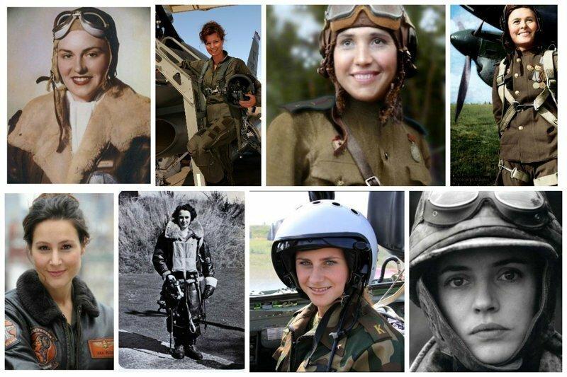 Девушки военные летчицы всех времен и народов