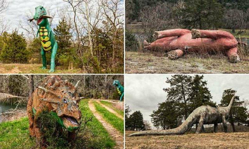 Забытые динозавры в лесах Арканзаса