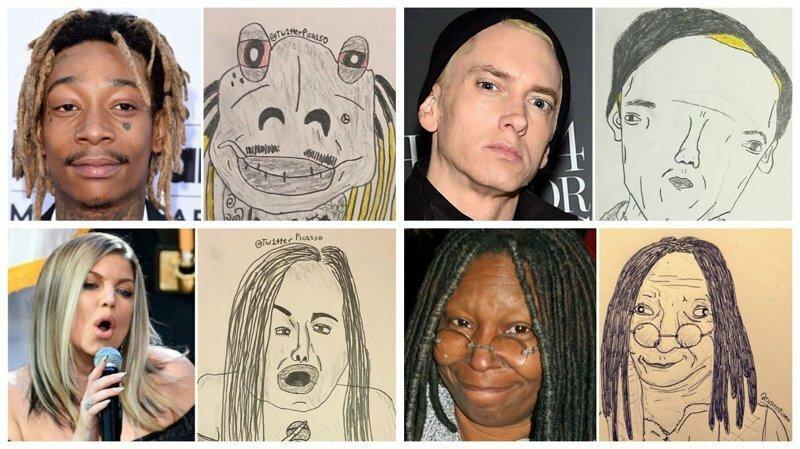 30 уморительных шаржей на известных людей от Tw1tter Picasso