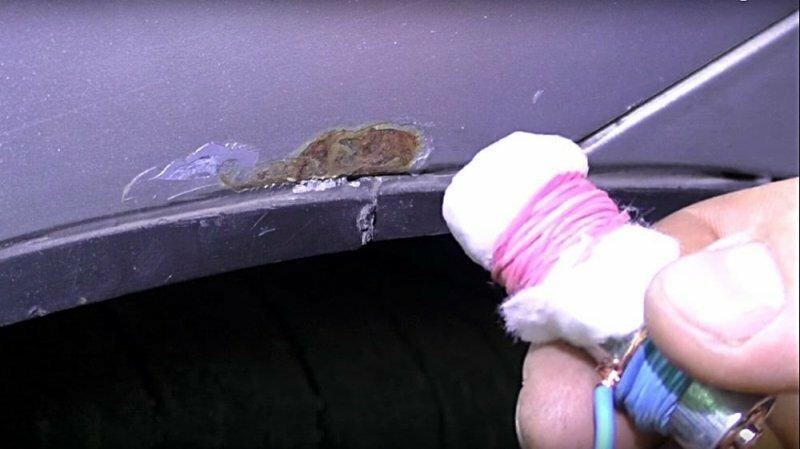 Удаление жучков и цинкование металла на авто своими руками