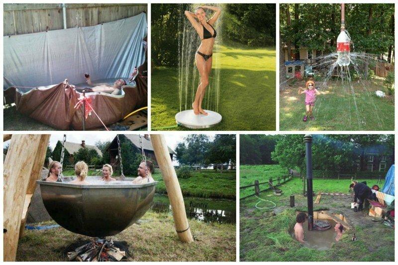 20 дачных бассейнов и летних душей своими руками