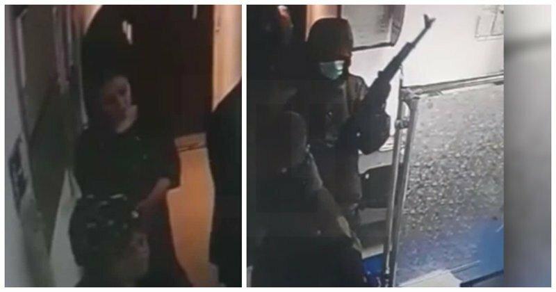 В Ингушетии бандиты с оружием напали на почту: видео