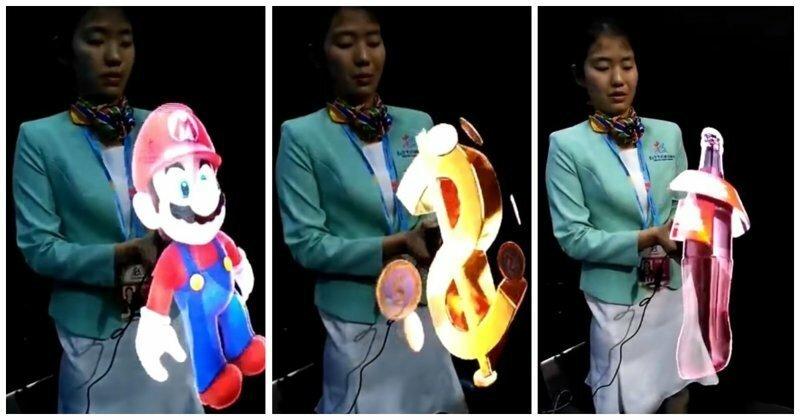 На выставке в Гонконге детям показали генератор невероятно реалистичных голограмм