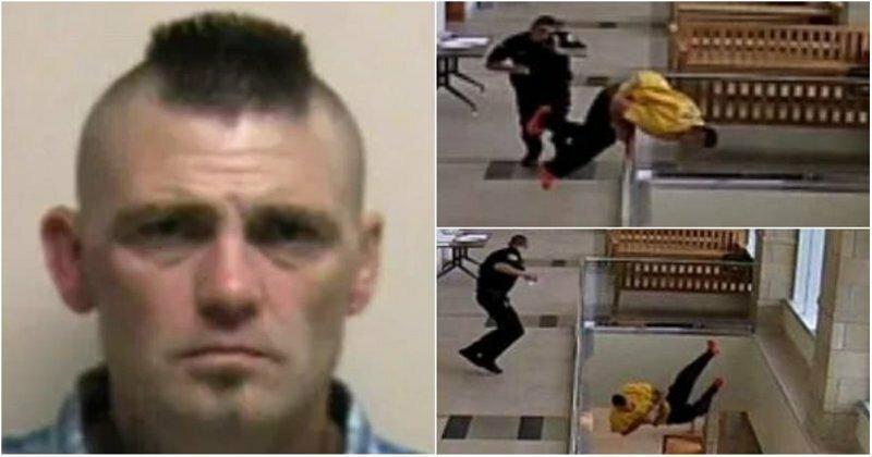 В США наркоторговец спрыгнул со второго этажа в здании суда