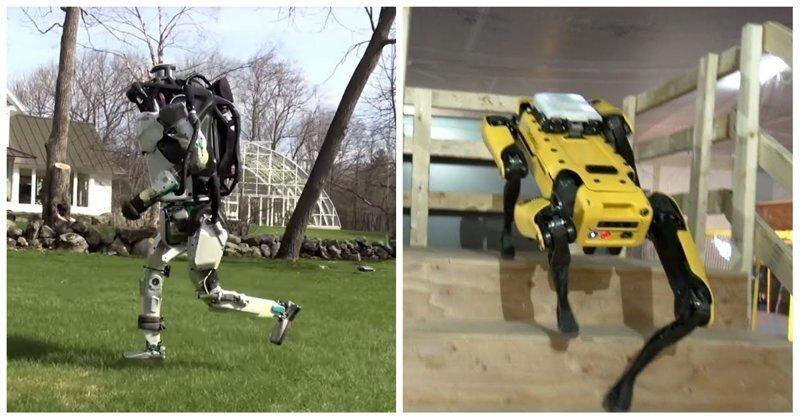 Роботов Boston Dynamics научили бегать трусцой по траве и самостоятельно ориентироваться