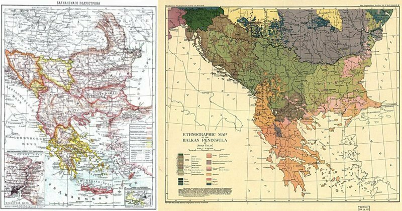 Исторические карты Балкан, которые помогут взглянуть на регион немного иначе