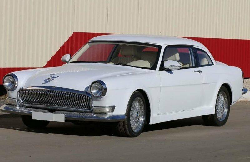 Купе в стиле ГАЗ-21 на базе BMW 5-ой серии с белоснежным салоном