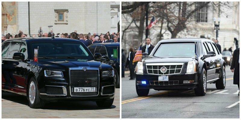 """""""Кортеж"""" Путина оказался мощнее, чем Cadillac Трампа"""