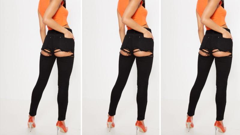 Женские брюки с демонстрацией выпуклостей озадачили покупателей