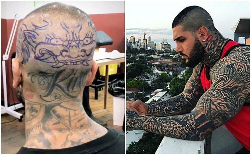 """""""Мусульманского солдата"""" критикуют за татуировки, запрещенные в исламе"""