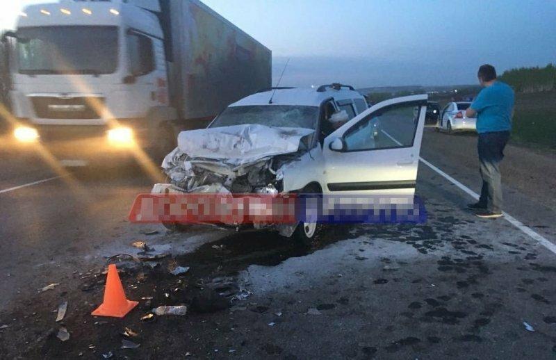 Авария дня. Столкновение с бензовозом в Башкирии