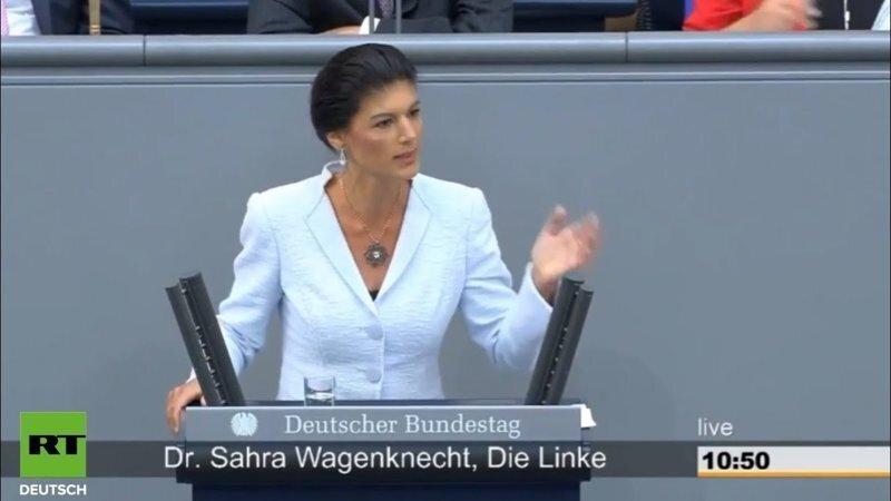 Сара Вагенкнехт: Только больной может утверждать, что Путин захватит Берлин!