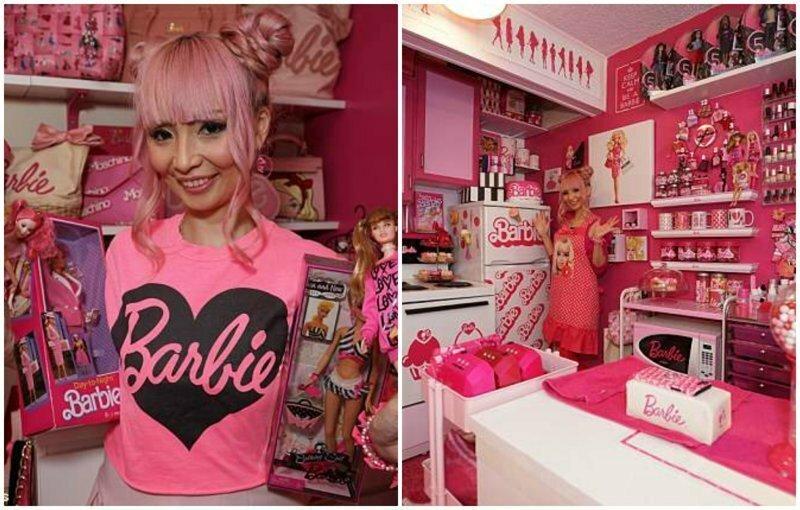 36-летняя фанатка Барби превратила свою квартиру в кукольный домик