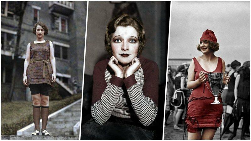 Цветные фотографии победительниц конкурсов красоты 1920-х годов