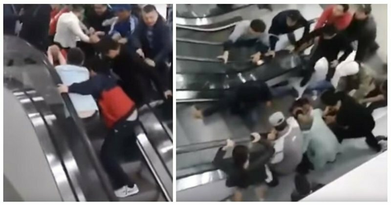 Жители Астаны спасли ребенка, застрявшего в эскалаторе: видео