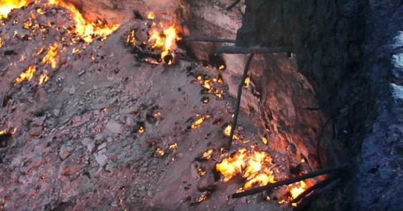 Адово горнило: закат солнца у газового кратера в Туркменистане