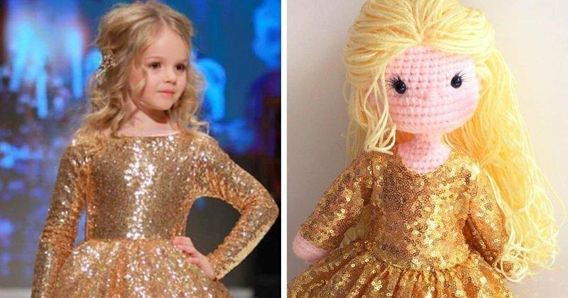 Многодетная мать делает вязаные куклы-портреты