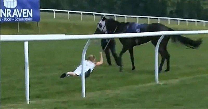 Коня на скаку остановит: журналистка приструнила сбежавшую лошадь