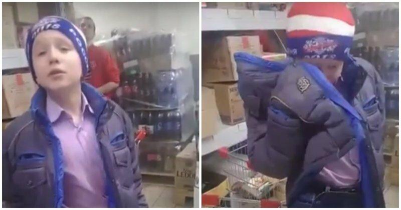 Дерзкий школьник попался на краже шоколадки