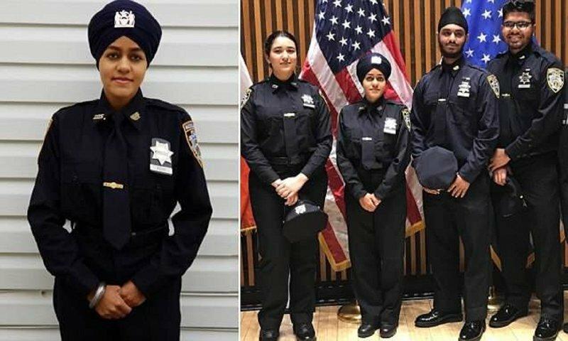 На улицы Нью-Йорка вышла первая женщина-полицейский в тюрбане