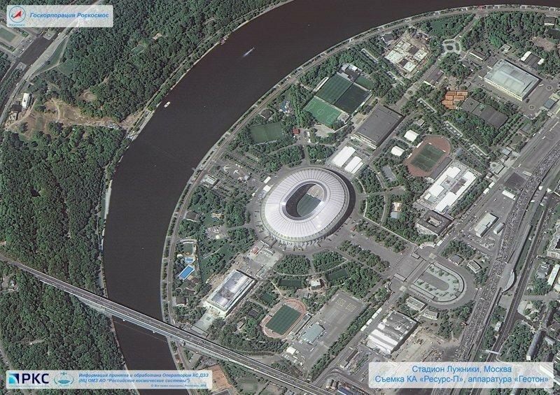 Опубликованы снимки всех 12 стадионов ЧМ-2018, сделанные из космоса