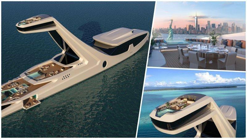 Итальянец собирается построить самую роскошную в мире яхту ценой $250 000 000