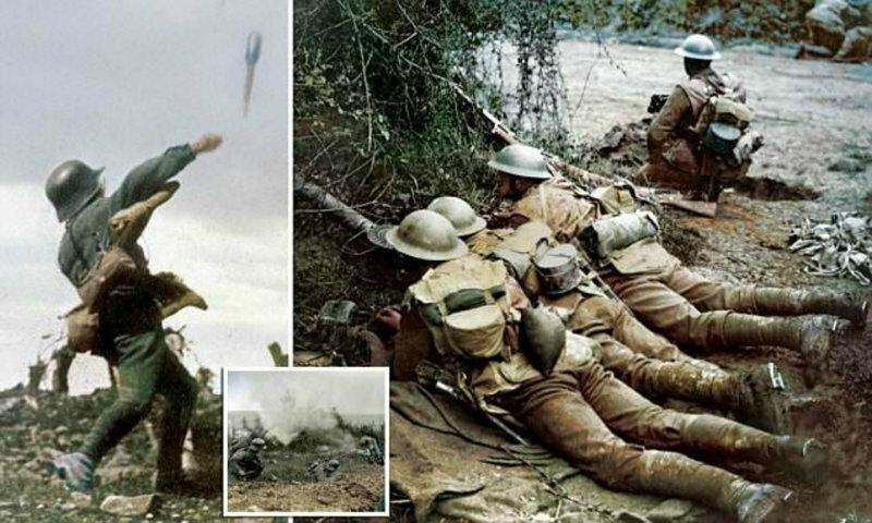 Опубликованы колоризированные снимки, повествующие о событиях Первой мировой