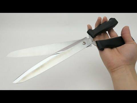 Острейшие ножницы из двух ножей своими руками