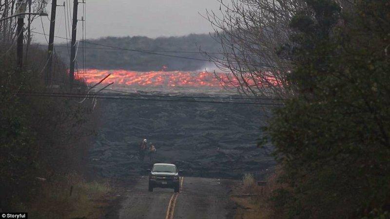 Невероятные кадры огненной реки