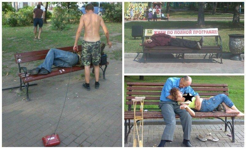 Такая насыщенная жизнь русских лавочек!