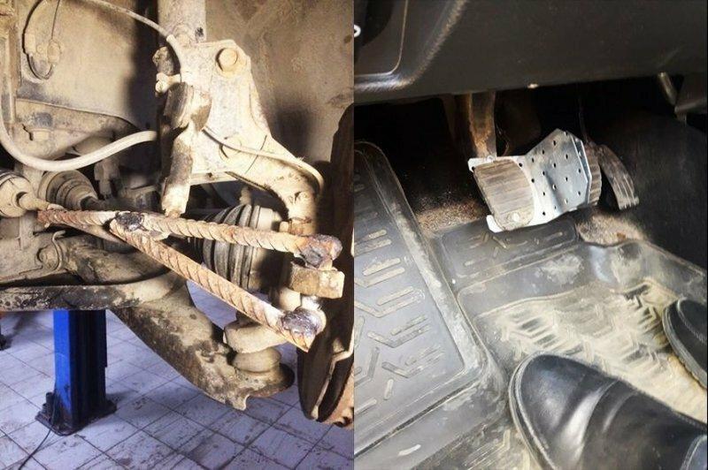 """""""Колхозный"""" ремонт автомобилей: ужасающие фотографии из автосервисов"""