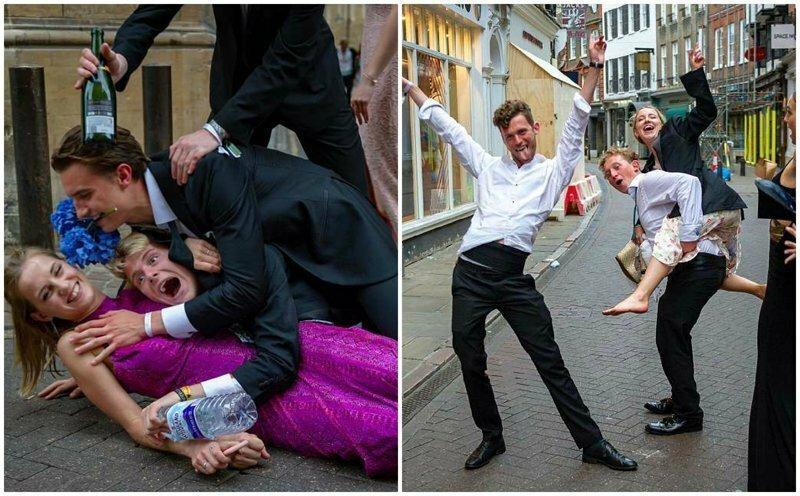 Студенты Кембриджа бурно отпраздновали выпускной