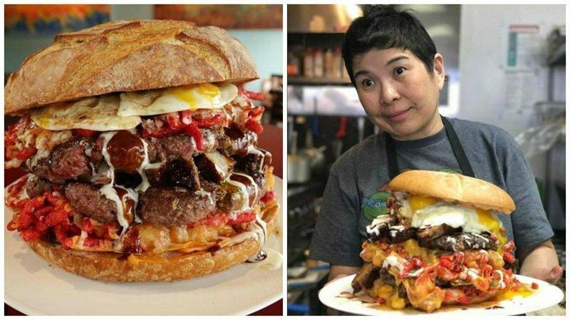 Бургер весом 7 кг, которым можно накормить семерых